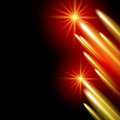Shining stars and neon strips glowing background with Royalty Free Stock Image