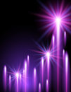 Shining stars and neon strips glowing background with Royalty Free Stock Photography