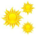 Shining sun symbols