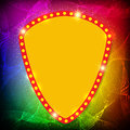 Shining waves background with retro casino light banner