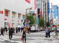 Shinjuku tokyo japan nov unidentified people on a street in ward tokyo on november is a major commercial and Stock Image