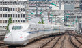 The Shinkansen bullet train Royalty Free Stock Photo