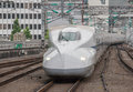 Shinkansen bullet train Royalty Free Stock Photo