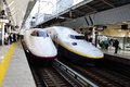 Shinkansen is the faster trains of japan Stock Photography