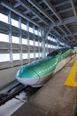 Shinkansen is the faster trains of japan the picture is the e train Stock Photo