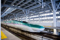 Shinkansen is the faster trains of japan the picture is the e train Royalty Free Stock Image