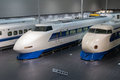 Shinkansen train in japan series and series at scmaglev and railway park nagoya the museum features full size Stock Photography