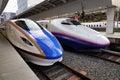 Shinkansen trains at the station in Toyama, Japan Royalty Free Stock Photo