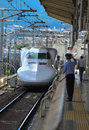 Shinkasen bullet trains japan train tokyo station Royalty Free Stock Image