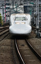 Shinkasen bullet trains japan train tokyo station Stock Image
