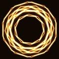 Shinning laser golden magic circles. Royalty Free Stock Photo