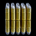 Shinny brass bullets with lead tops Royalty Free Stock Photo