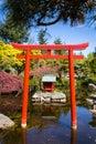 Shinto shrine in a public park Royalty Free Stock Photo