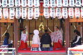 Shinto wedding Royalty Free Stock Photo