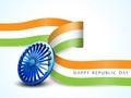 Shiny Ashoka Wheel for Indian Republic Day celebration. Royalty Free Stock Photo