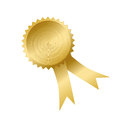 Shiny award ribbon on white Royalty Free Stock Photos