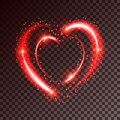 Shiny background with heart
