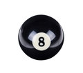 Shiny ball for billiard Royalty Free Stock Photo