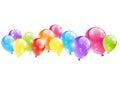 Shiny balloon border Royalty Free Stock Photo