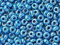 Shiny blue beads Stock Photos