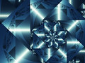 Shiny blue fractal Royalty Free Stock Photo