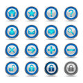 Shiny Blue Icons Set 1 - Web Royalty Free Stock Image