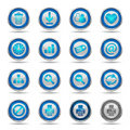 Shiny Blue Icons Set 2 - Web Royalty Free Stock Photo