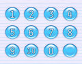 Shiny blue number icons Royalty Free Stock Photography