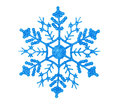 Shiny blue snowflake Royalty Free Stock Photo