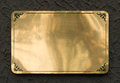Shiny brass metal sign texture Royalty Free Stock Photo