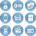 Shiny business icons in vector Royalty Free Stock Images
