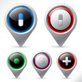 Shiny button set with medical elements Stock Photography