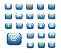 Shiny buttons blue color Royalty Free Stock Photo