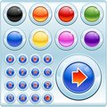 Shiny Buttons and Icons Royalty Free Stock Photo