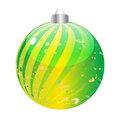 Shiny christmas globe Royalty Free Stock Images
