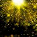 Shiny christmas golden holiday abstract background with bubbles and sparkle Royalty Free Stock Photos