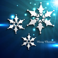 Shiny christmas snowflake Royalty Free Stock Photography
