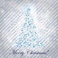Shiny christmas tree Stock Photography