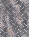 Shiny chrome diamondplate Stock Images