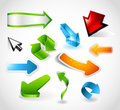 Shiny and colorful arrows Royalty Free Stock Image