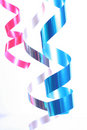Shiny colorful satin ribbons Stock Images