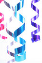 Shiny colorful satin ribbons Stock Photo