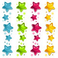 Shiny Colorful Stars Stock Images