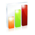 Shiny column graph icon Royalty Free Stock Images