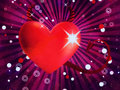 Shiny devil heart Royalty Free Stock Photo