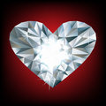 Shiny diamond heart Stock Images