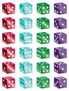 Shiny dice Stock Photo