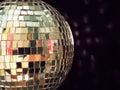 Shiny disco ball, detailed Royalty Free Stock Photo