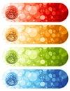 Shiny disco balls. Banners. Stock Image