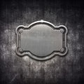 Shiny distressed metal frame grunge background Stock Images